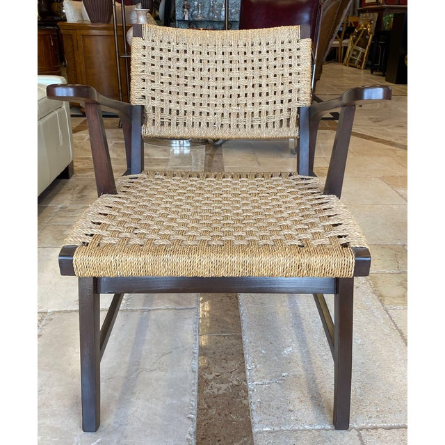 Mid 20th Century Danish Mid Century Modern Rope Armchairs - a Pair For Sale - Image 5 of 10
