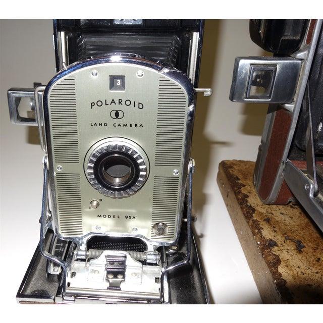 Polaroid Corporation Early Large Polaroid Camera Circa 1948-1959 Iconic Rare Display Camera on Polished Travertine Stone Base For Sale - Image 4 of 13