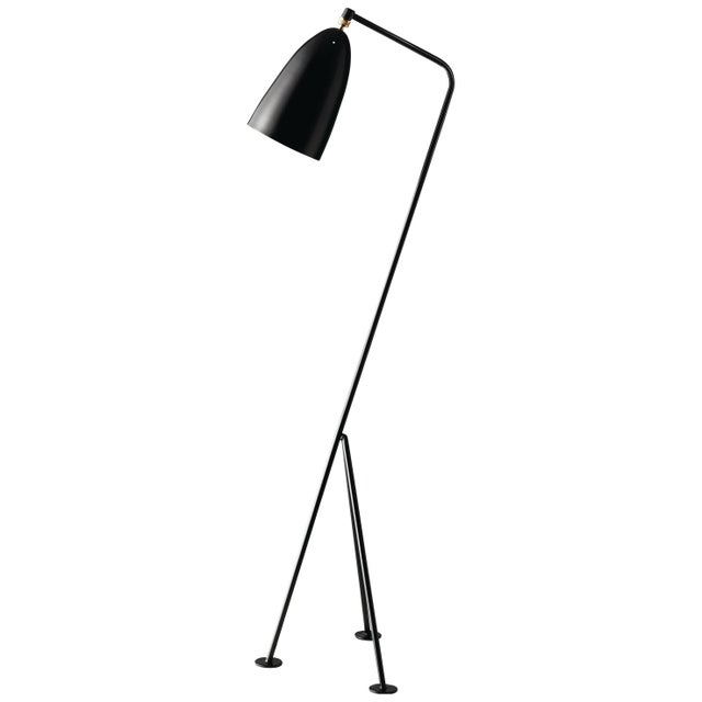 Mid-Century Modern Greta Magnusson Grossman 'Grasshopper' Floor Lamp in Black For Sale - Image 3 of 3