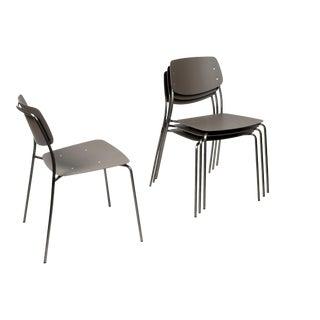 Dietiker Le Corbusier Brown Felber Patio Chairs - Set of 4 For Sale