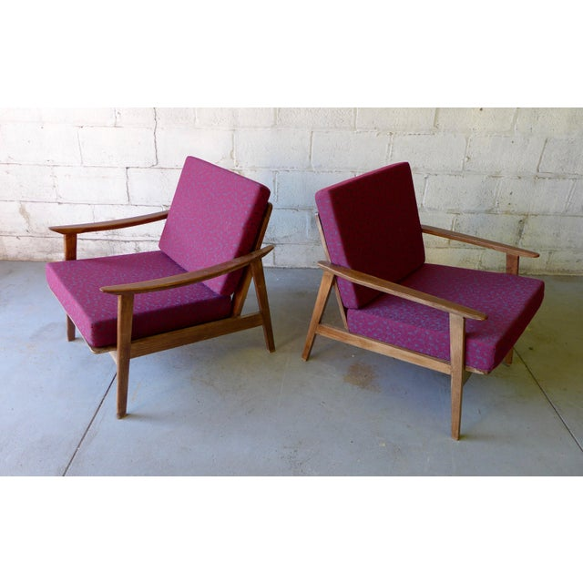 Mid-Century Modern Lounge Chairs - A Pair - Image 5 of 7