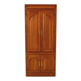 Harden Cherry Four Door Computer Desk Cabinet - 2 Pc. For Sale