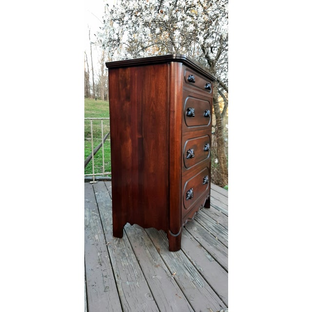 Victorian 1948 Davis Cabinet Company Lillian Russell Black Walnut Chest of Drawers For Sale - Image 3 of 13