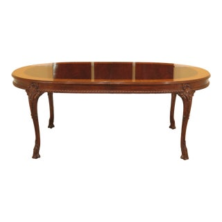 1990s French Karges Mahogany Carved Dining Room Table For Sale