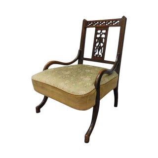 Early 20th Century Antique English Nursing Chair For Sale