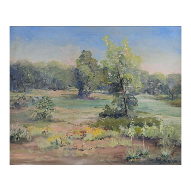 Texas Landscape Painting by Santa Duran For Sale