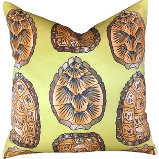 Turtle Shell Acacia Pillow For Sale