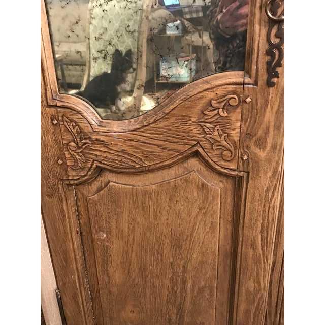 Acid Wash Mirrored Armoire For Sale - Image 4 of 12
