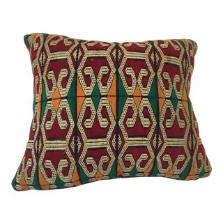 Moroccan Handwoven Pillow With Tribal African Designs For Sale