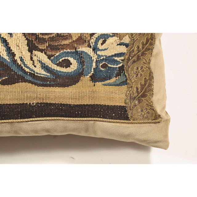 19th Century Tapestry Pillow For Sale In Houston - Image 6 of 7