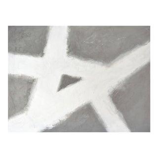 """Concrete No. 5 White Slash Painting - 30"""" X 40"""" For Sale"""