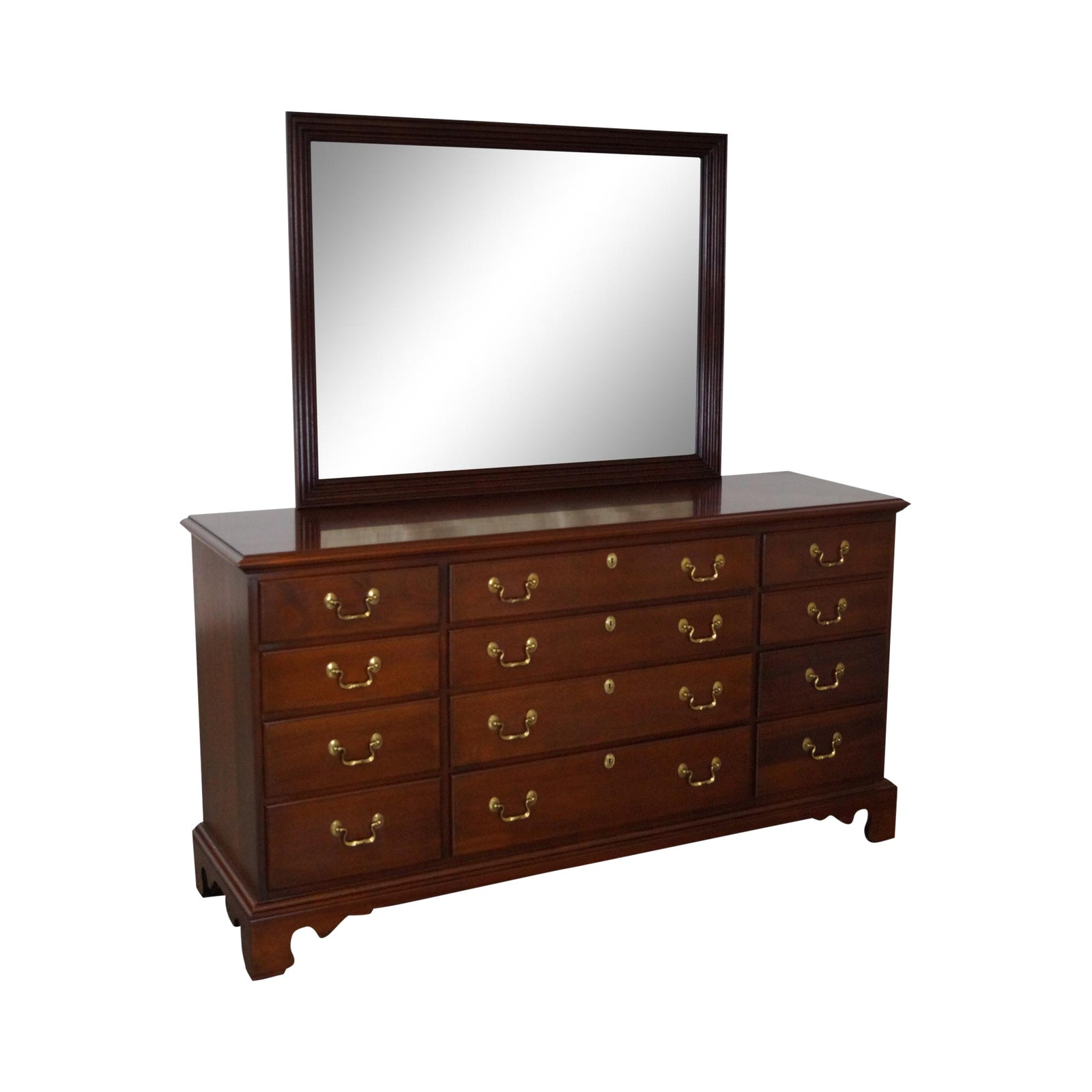 Link Taylor Solid Mahogany Chippendale Dresser W Mirror
