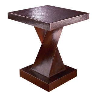 Helix Table - Antique Copper For Sale