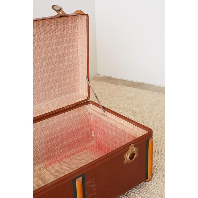 Early 20th Century Painted Steamer Travel Trunk For Sale - Image 9 of 13
