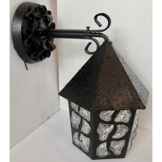 Black Art Deco Outdoor Sconce For Sale - Image 8 of 8