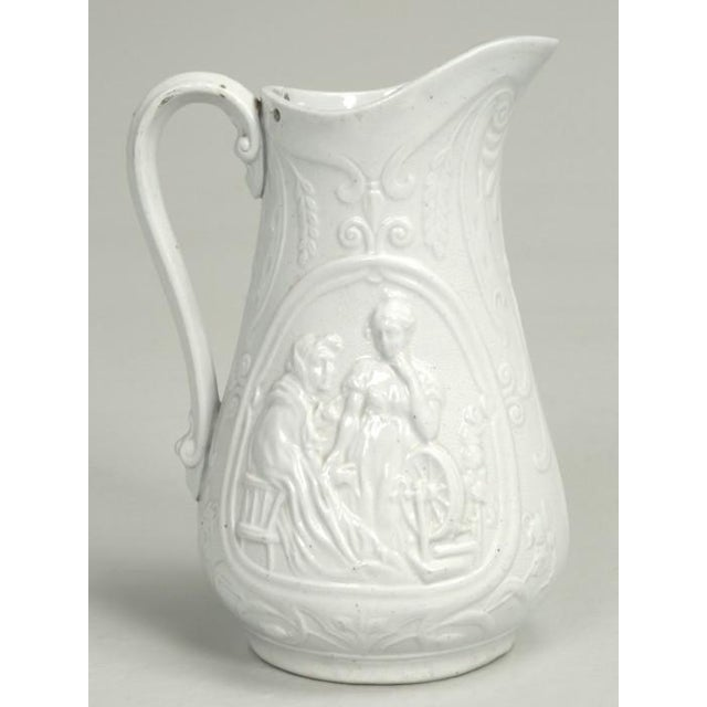 """Mid 19th Century English Staffordshire Pitcher """"Old Mother Hubbard"""" For Sale - Image 5 of 11"""