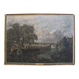 "1944 Original Landscape Poster, John Constable's ""A Lock in the Stour"" For Sale"