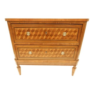 19th C. Italian Parquet Commode For Sale