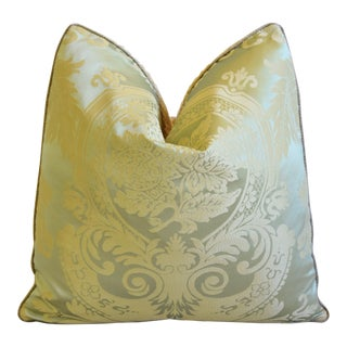 "French Nobilis Palais Royal Silk Feather/Down Pillow 21"" Square For Sale"