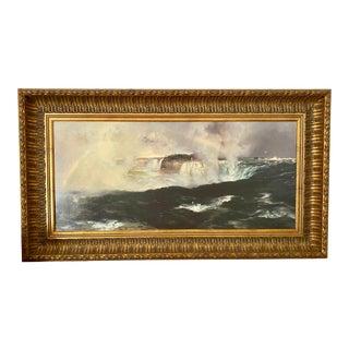 "Thomas Moran's ""Rainbow Over Niagara Falls"" Fine Art Giclee Print Framed For Sale"