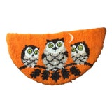 Image of Mid Century Owl Hooked Rug - 1′11″ × 3′8″ For Sale