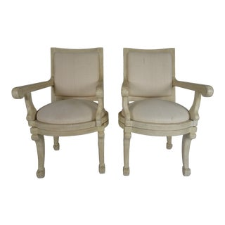 1980s John Dickinson Style Swivel Armchairs - a Pair For Sale
