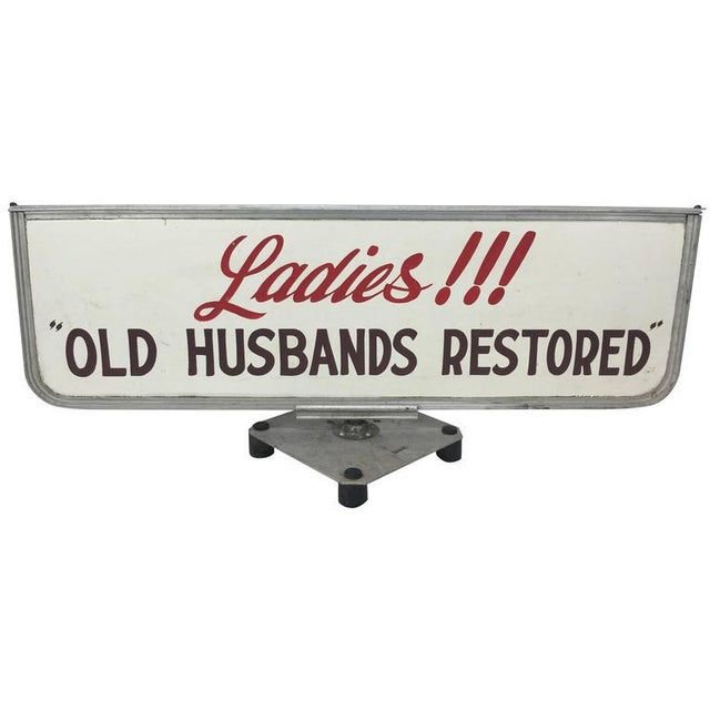 """Old Husbands Restored"" Trade/Store Display Sign For Sale - Image 5 of 5"