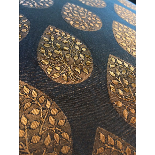 Brown & Gold Brocade Pillow Cover - Image 4 of 4
