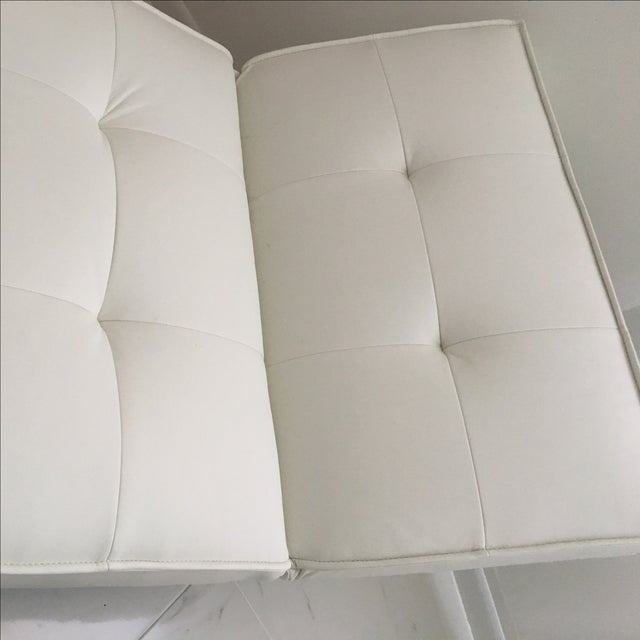 Tufted White & Chrome Accent Chair - Image 4 of 4