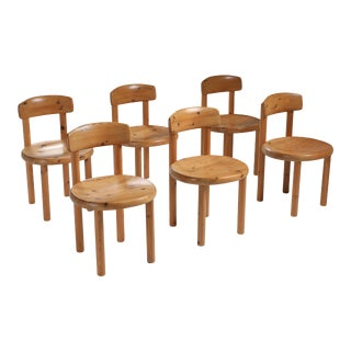 Rainer Daumiller Set of Six Dining Chairs in Pine - 1970's For Sale