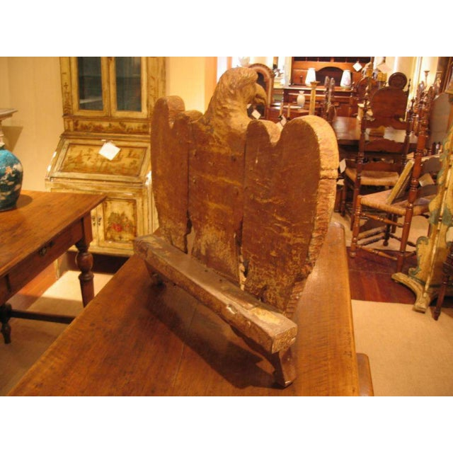 Rustic 18th. Century Italian Carved Wood Eagle Sculpture For Sale - Image 3 of 8