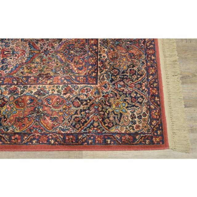 1990s Karastan 8.8x12 Multicolor Panel Kirman Room Size Rug # 717 For Sale - Image 5 of 13
