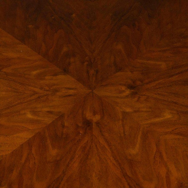 Wood Art Deco Skyscraper Style Walnut & Black Lacquer Dining / Centre Table For Sale - Image 7 of 8