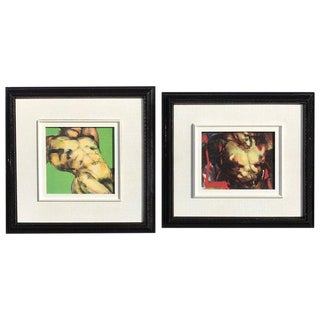 Two Diminutive Giclee Male Nude Studies by Johanne Corno For Sale