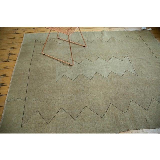"""Vintage Turkish Oushak Carpet - 5'10"""" x 7'10"""" For Sale - Image 4 of 8"""