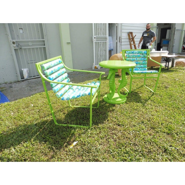 Green 60's Vintage Samsonite Wrought Iron Patio Set For Sale - Image 8 of 12