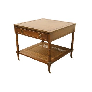 Hekman Furniture Italian Neoclassical Square Accent End Table For Sale
