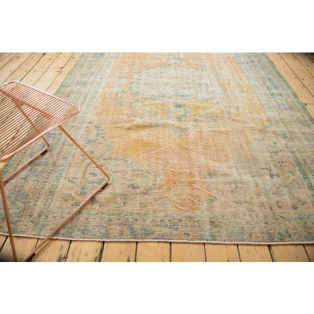 "Vintage Distressed Oushak Carpet - 6'3"" X 8'6"" - Image 2 of 11"