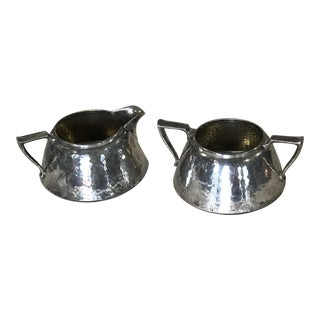 Antique Creamer and Sugar Bowl For Sale