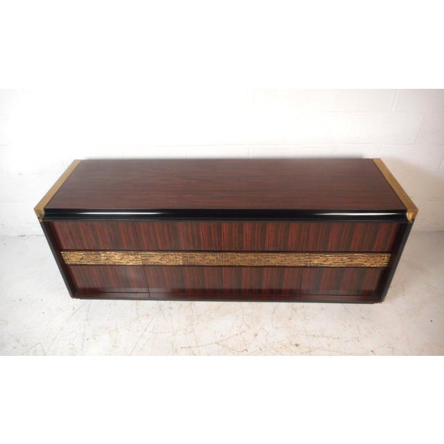 Brutalist Impressive Midcentury Chic Sideboard by Frigerio For Sale - Image 3 of 9