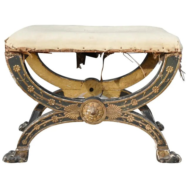 Early 19th Century French Imperial Empire Tabouret Ordered for the Tuileries For Sale - Image 10 of 10
