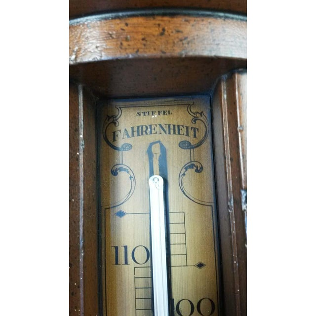Stiffel Vintage Stiffel Mid-Century Solid Wood Farenheit Thermometer For Sale - Image 4 of 8