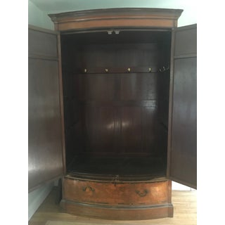 1900s Vintage English Satinwood Armoire - Linen Press Preview