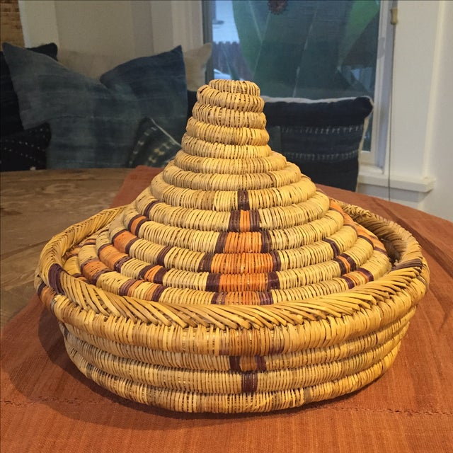 Moroccan Basket With Lid - Image 6 of 6
