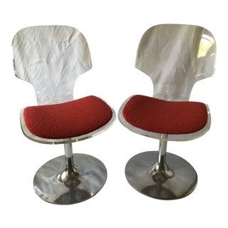 Mid-Century Modern Lucite Chairs - a Pair For Sale