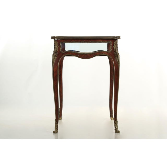 19th Century French Antique Bronze Side Table w/ Vitrine Display Case For Sale - Image 6 of 10