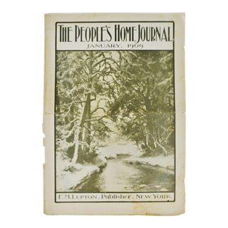 Antique January 1909 The People's Home Journal Magazine For Sale