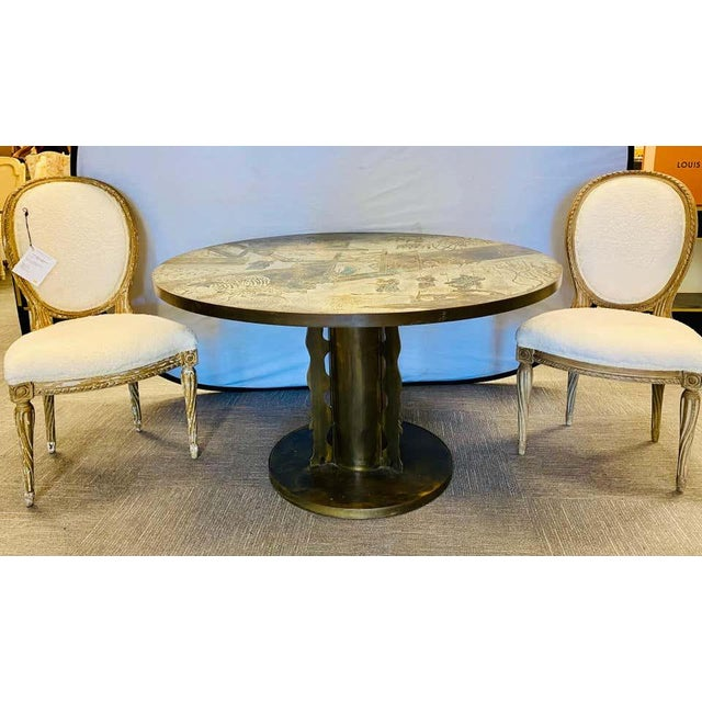 Philip and Kelvin LaVerne Chan Center / Dining Table, Mid-Century Modern For Sale - Image 12 of 13