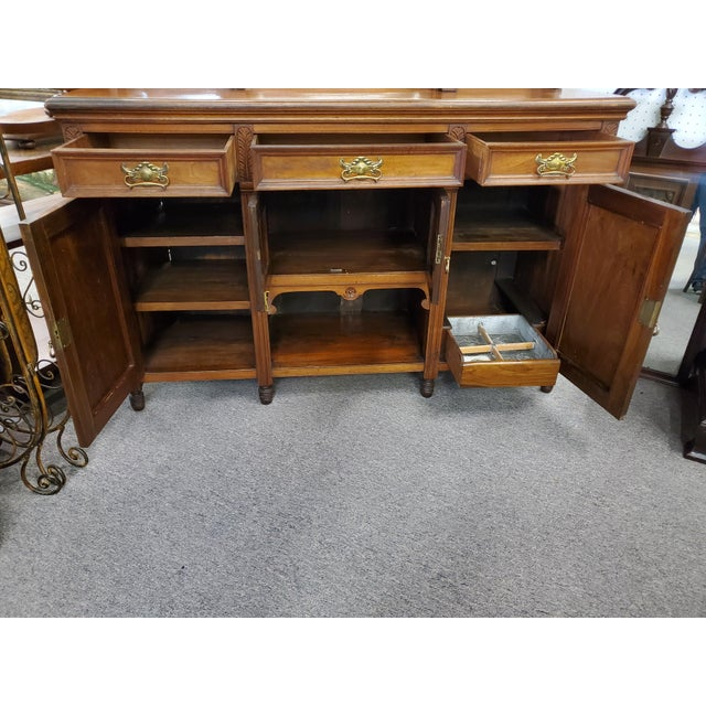 Early 20th Century Antique Hutch With Beveled Mirrors For Sale - Image 10 of 12