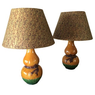 Antique Chinese Vase Lamps - a Pair For Sale